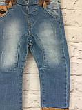 Детские джинсы на подтяжках, одежда для мальчиков на 3-7 лет, фото 2