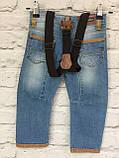 Детские джинсы на подтяжках, одежда для мальчиков на 3-7 лет, фото 4