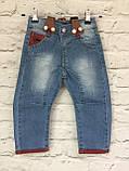 Детские джинсы на подтяжках, одежда для мальчиков на 3-7 лет, фото 5
