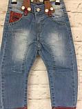 Детские джинсы на подтяжках, одежда для мальчиков на 3-7 лет, фото 6