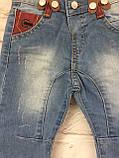 Детские джинсы на подтяжках, одежда для мальчиков на 3-7 лет, фото 7