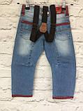 Детские джинсы на подтяжках, одежда для мальчиков на 3-7 лет, фото 8