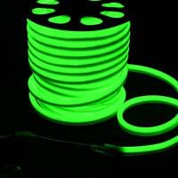 Светодиодная LED лента гибкий неон LED NEON FLEX G зелёная 220В 220V