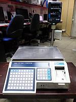 Весы торговые с принтером CAS LP-1-15 vs 1.6 R. RS-232.DUAL бу,  весы чекопечатающие б/у  торговые весы б.у., фото 1