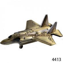 Зажигалка сувенирная настольная самолет арт(4413)