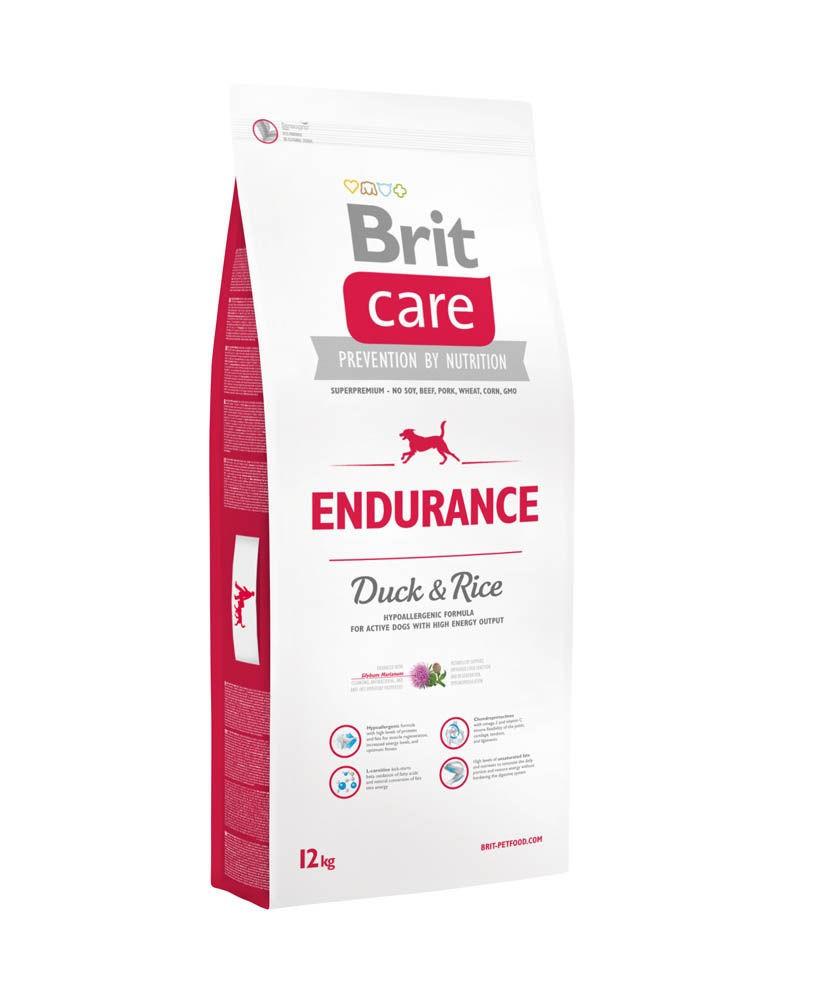 Brit Care ENDURANCE 12 кг - гипоаллергенный корм для собак с повышенными физ. нагрузками (утка/рис)