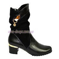 Женские демисезонные ботинки на невысоком каблуке классического пошива, фото 1