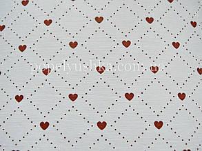 """Папір текстурний односторонній """"Серце"""" бордо А4 220 г/м МІХ"""