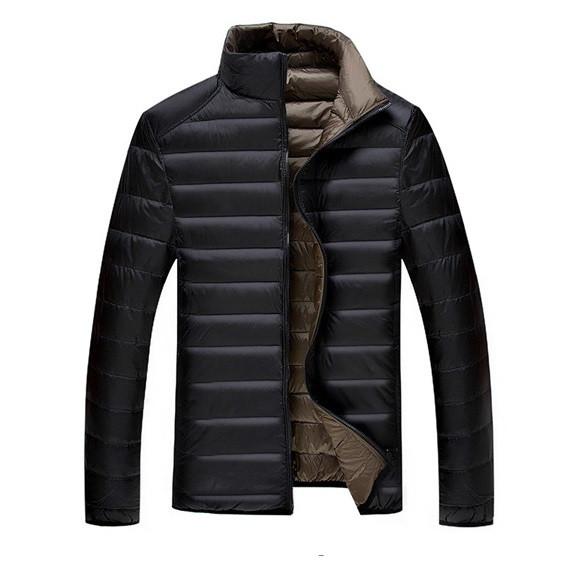 Мужской двухсторонний пуховик. Мужская куртка Весна-Осень. Модель ... 7109f144aef