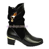 Женские зимние ботинки на невысоком каблуке классического пошива, фото 1