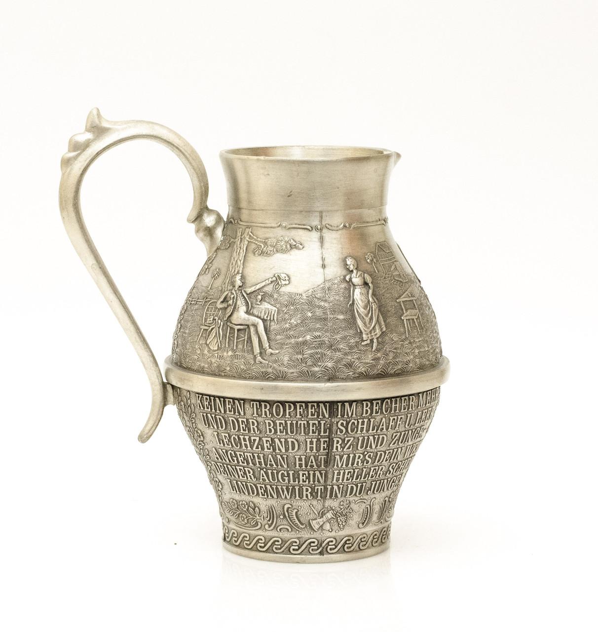 Кувшин коллекционный, оловянный, олово, Германия 400мл