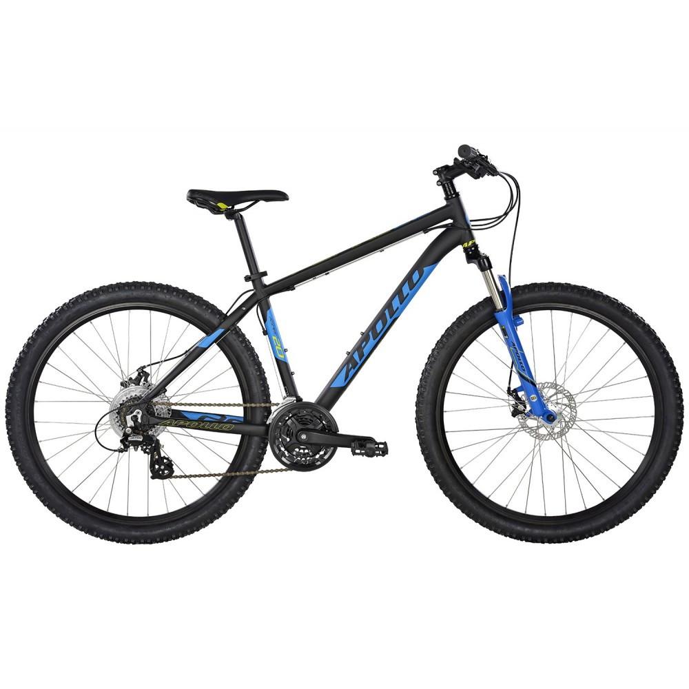 "Велосипед 27,5"" Apollo Aspire 20 рама - M 2017 Matte Black/Matte Blue/Matte Lime"