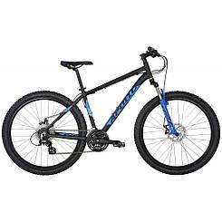 """Велосипед 27,5"""" Apollo Aspire 20 рама - L 2017 Matte Black/Matte Blue/Matte Lime"""