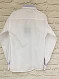 Рубашка белая для мальчиков 5-9 лет, фото 4