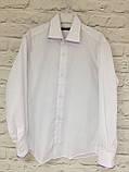 Рубашка белая для мальчиков 5-9 лет, фото 5