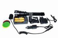 Фонарь аккумуляторный POLICE BL-Q2800 L2/T6 158000W ЗУ-сеть, выносная кнопка, zoom, световые фильтры