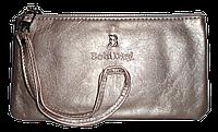 Женский кошелек-клатч Bobi Digi серебристого цвета из кожзама WLP-061001, фото 1