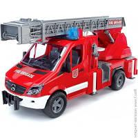 Пожарная Техника Bruder Пожарный МВ Sprinter с лестницей, водяной помпой, светом и звуком, 1:16 (2532)