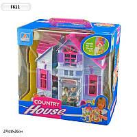 Домик для кукол F611 раскладной, с фигурками