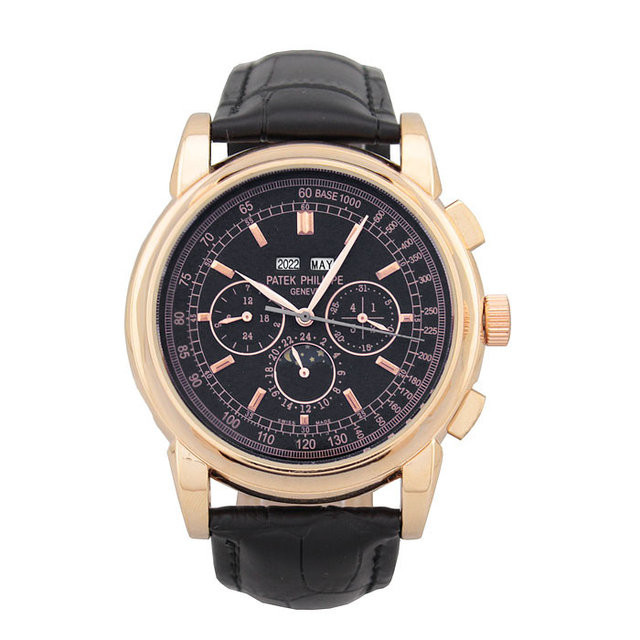 МУЖСКИЕ НАРУЧНЫЕ ЧАСЫ PATEK PHILIPPE GRAND COMPLICATIONS PERPETUAL CALENDAR BLACK GOLD