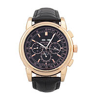 МУЖСКИЕ НАРУЧНЫЕ ЧАСЫ PATEK PHILIPPE GRAND COMPLICATIONS PERPETUAL CALENDAR BLACK GOLD, фото 1