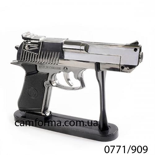 Зажигалка пистолет настольный на подставке арт(0771/909)