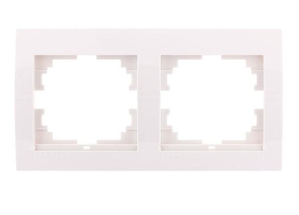 Lezard Deriy Рамка 2-ая горизонтальная б/вст Белая