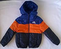 Куртка - Ветровка для Мальчика Adidas Цвет Темно Синий  Рост 104 см