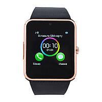 Смарт часы GT08 (ORIGINAL) Smart watch 1 sim, 1 SD карта. Gold/black