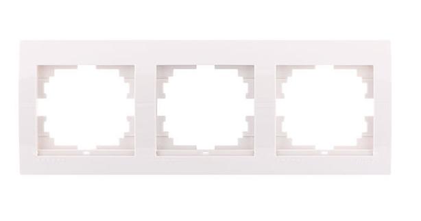 Lezard Deriy Рамка 3-ая горизонтальная б/вст Белая