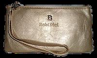 Женский кошелек-клатч Bobi Digi золотистого цвета из кожзама WLP-061011, фото 1