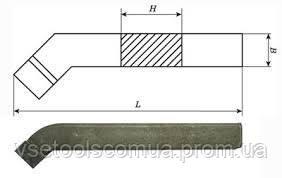 Резец токарный проходной отогнутый 25х16х140 Т15К6 2102-0005 ГОСТ 18877, фото 2