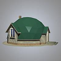 """Эконом дом. Проект купольный дом """"Уют"""".Дома под ключ эконом класса."""