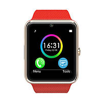 Смарт часы GT08 (ORIGINAL) Smart watch 1 sim, 1 SD карта. Red/Gold.
