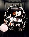 Рюкзак женский  mini в цветы (черный), фото 2