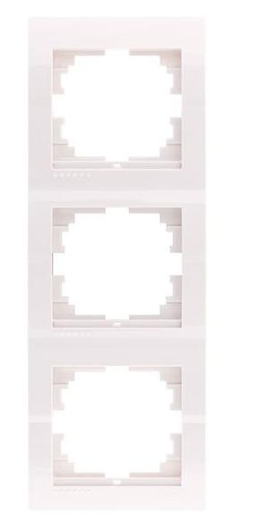 Lezard Deriy Рамка 3-ая вертикальная б/вст Белая