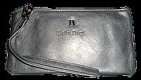 Женский кошелек-клатч Bobi Digi серого цвета из кожзама WLP-061031, фото 1