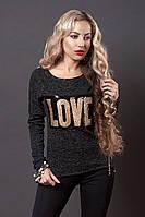 Свитшот мод № 276-1 размер 44 темно-серый