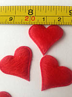 Декор Сердечки  атласные  21х17мм