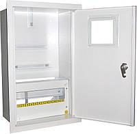 Щит распределительный под 3ф счетчик электронный +12 автоматов внутренний