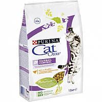 Cat Chow Hairball Control 1,5 кг Сухой корм для кошек выведение комков шерсти из желудка
