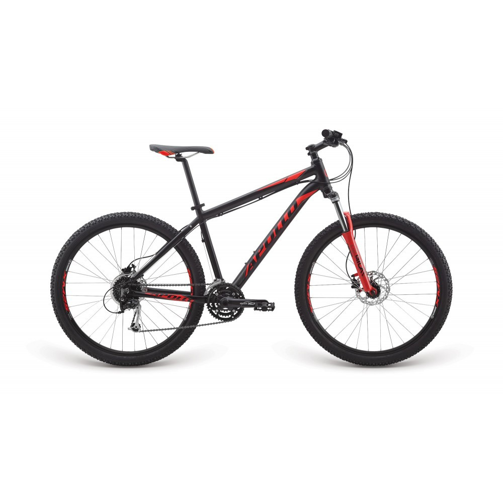"Велосипед 27,5"" Apollo Aspire 30 рама - XL 2017 Matte Black/Matte Charcoal/Matte Red"