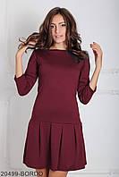 Женское платье в стиле Casual Бордо