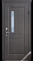 Входные металлические двери Berez модель Аллегра + стеклопакет (улица)