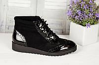 Женские стильные ботинки на шнурках недорого