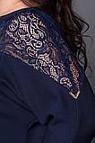 Платье мод №508-3, размер  54-56 56-58 eлектрик, фото 3