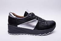 Кроссовки №374-10 черный + серебро, фото 1