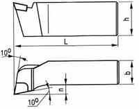 Резец токарный подрезной отогнутый 40х25х200 ВК8 2112-0011 ГОСТ 18880  на VSETOOLS.COM.UA