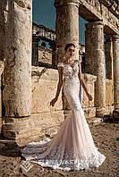"""Волшебное свадебное платье силуэта """"Русалка"""", украшенное нежной аппликацией"""
