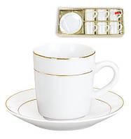 Набор кофейный (6 чашек и 6 блюдец) 382-102